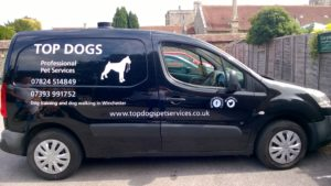 Specially equipped van used by our dog walker